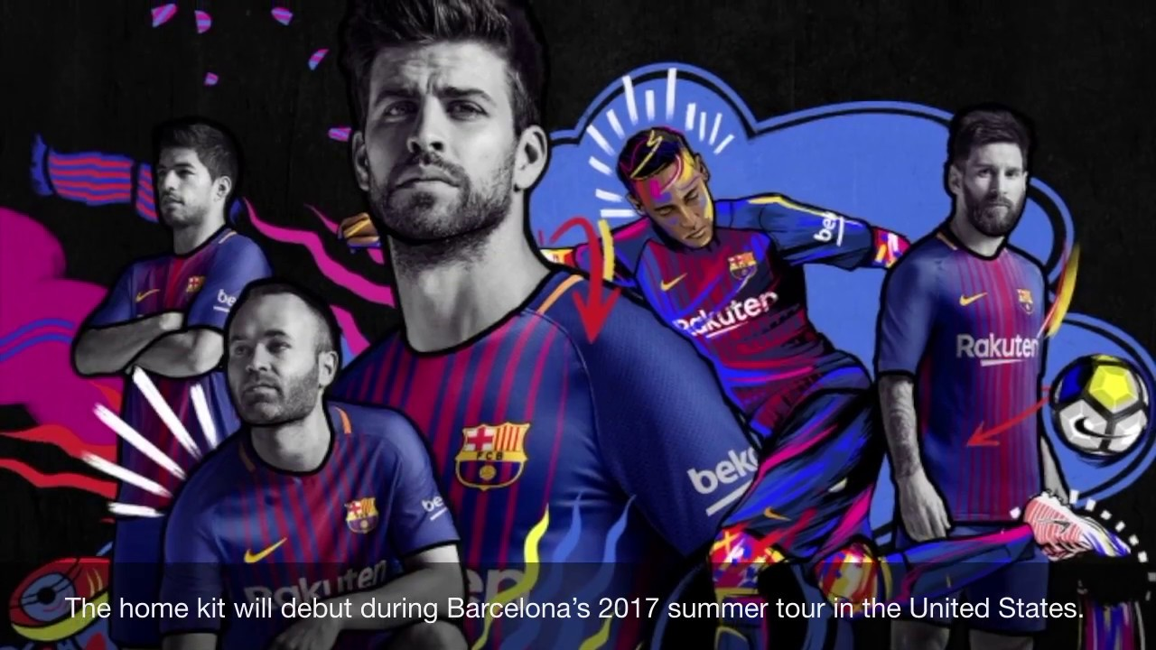 lowest price 871a0 f2da5 Nike FC Barcelona 2017/2018 Home Jersey