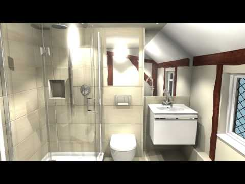 Knoetze's modern bathroom in a vintage setting
