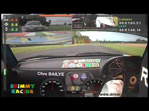 Onboard Ma5da MX5 Racing at Croft Circuit 2011 - Clive Bailye - Race 1
