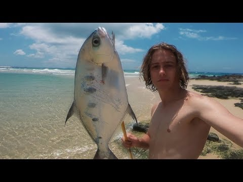 Spearfishing the Shallows - Catch n Cook on the beach!
