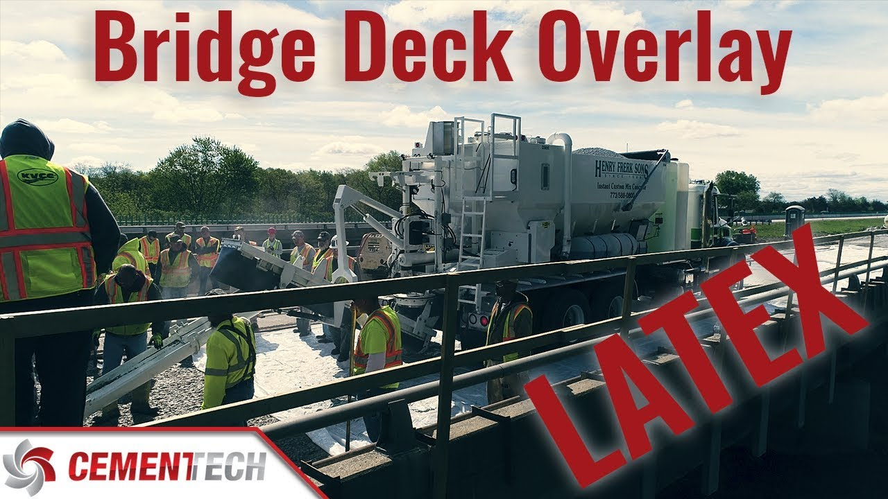 Latex Bridge Deck Overlay On I-55