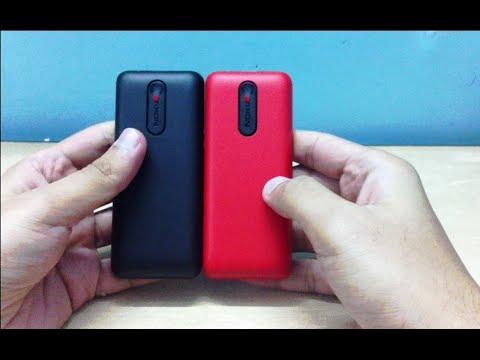 Nokia 108 Dual Sim Phone Black & Red Unboxing (INDIA)