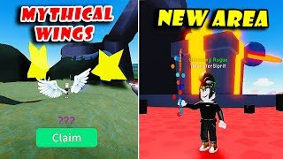 NEW Crystal Cavern Area Update!! Got MYTHICAL Hats (Sparkle Wings) | Unboxing Simulator! [Roblox]