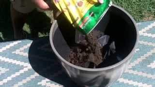How Fill Large Planter