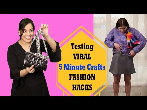 testing-viral-fashion-hacks-from-5-minute-crafts-|-mishra-twins