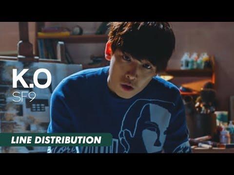 SF9 (에스에프나인) - K.O (케이오) | Line Distribution