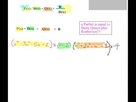 Polynomial Division Series Part 3: Statement P=DQ+R and 13=4(3)+1 ...