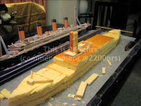 Making Of Titanic Cake Sep 2012 Youtube