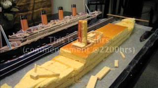 Making of Titanic Cake Sep 2012