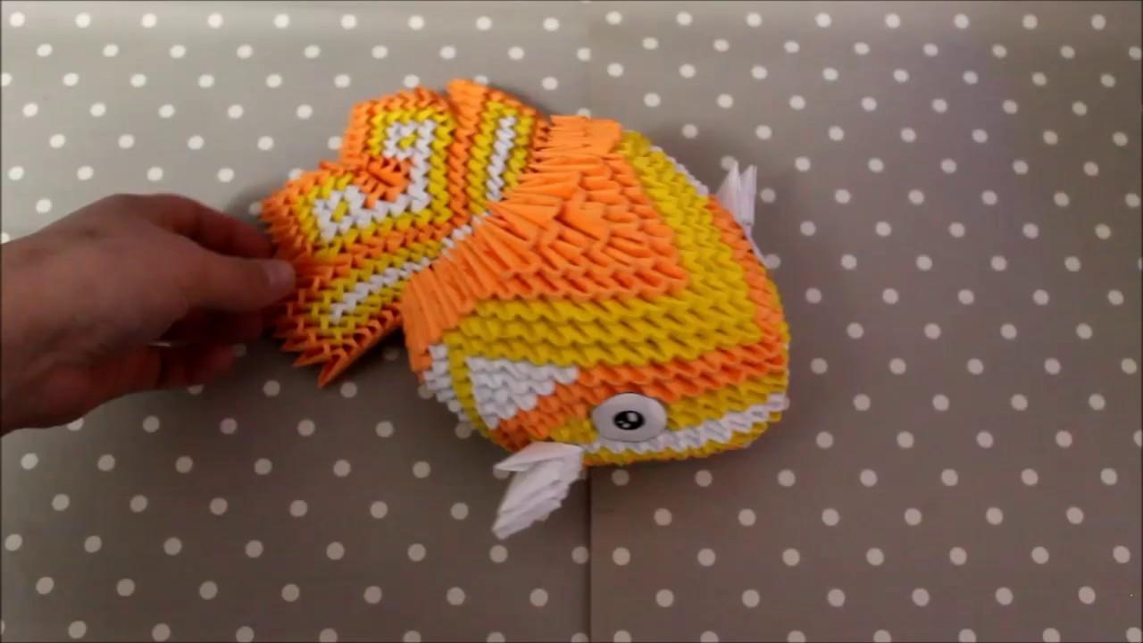 3d origami koi fish diagram images gallery [ 1280 x 720 Pixel ]