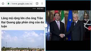 """Lăng mộ """"hơn 2 hecta"""" của chỉ tịch nước Trần Đại Quang bị phản ứng mạnh từ dư luận"""