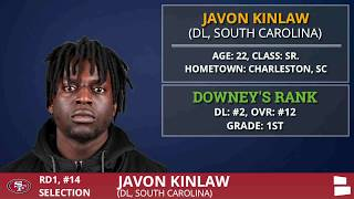 San Francisco 49ers Select DL Javon Kinlaw From South Carolina With Pick #14 - 2020 NFL Draft