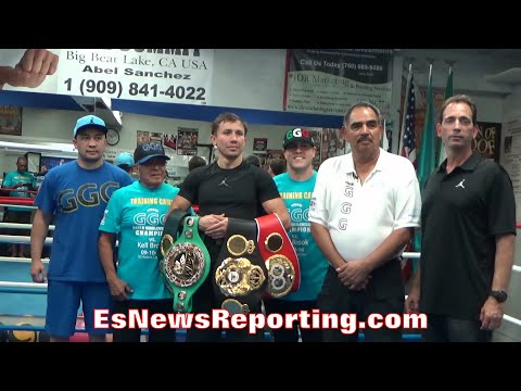 "GENNADY GOLOVKIN POSING WITH ""ALL THE BELTS"" - EsNews Boxing"