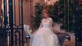 Свадебное платье кружевное с рукавами