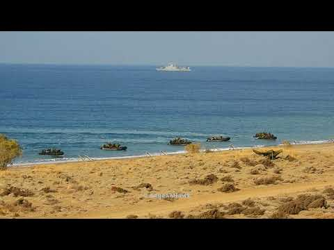 Hellenic Army platoon from 32 Marine Brigade landing in NW Chios island.