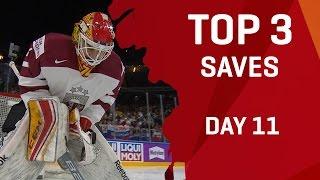 Top 3 Saves | Day 11 | #IIHFWorlds 2017