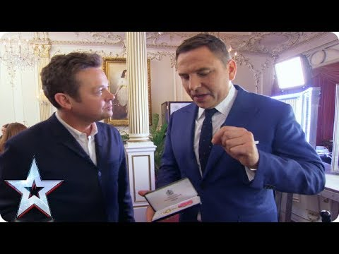 FIRST LOOK: David Walliams shows Stephen his OBE | BGMT 2018