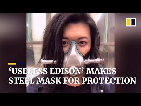 'Useless Edison' makes steel mask due to the shortage over coronavirus outbreak