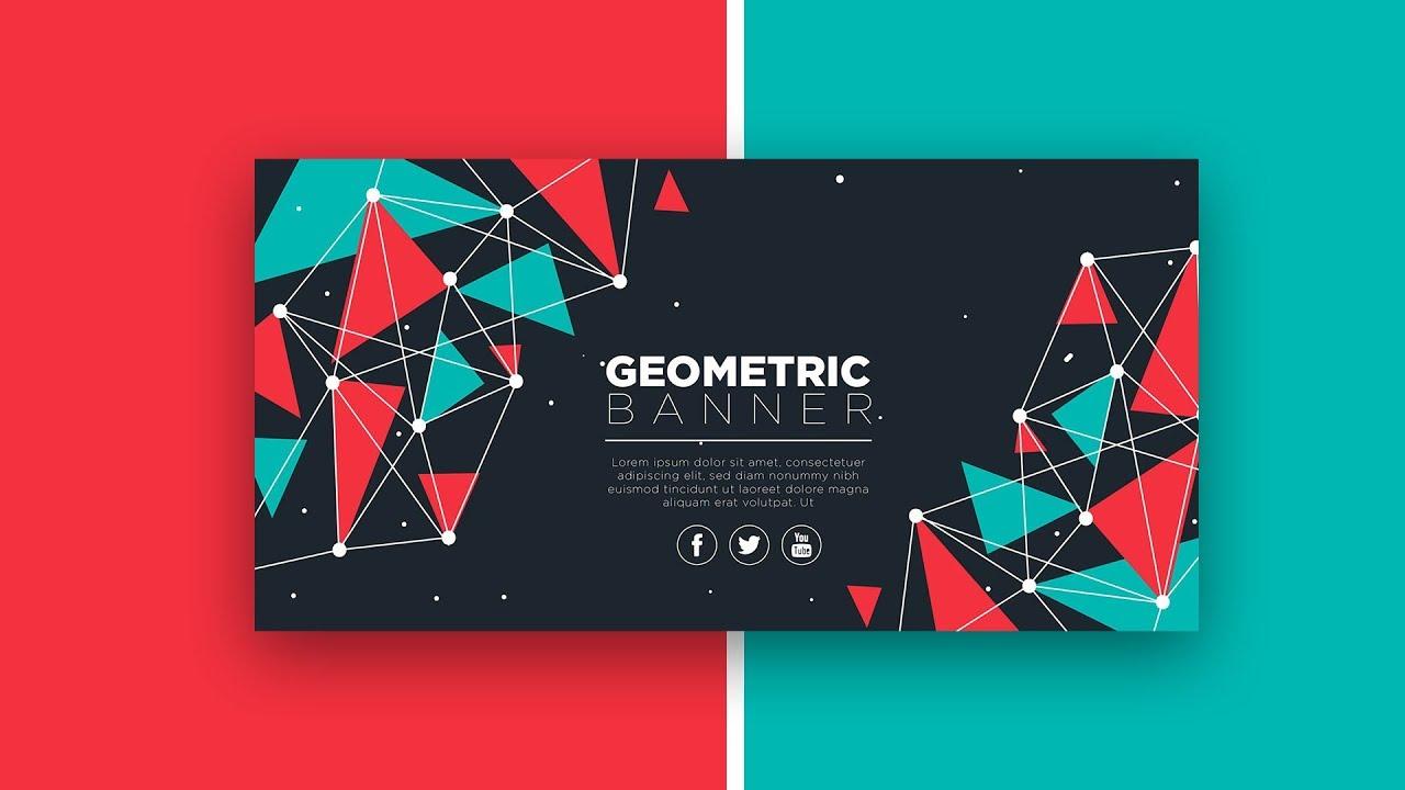 how to Design geometric banner in illustrator cc 2019