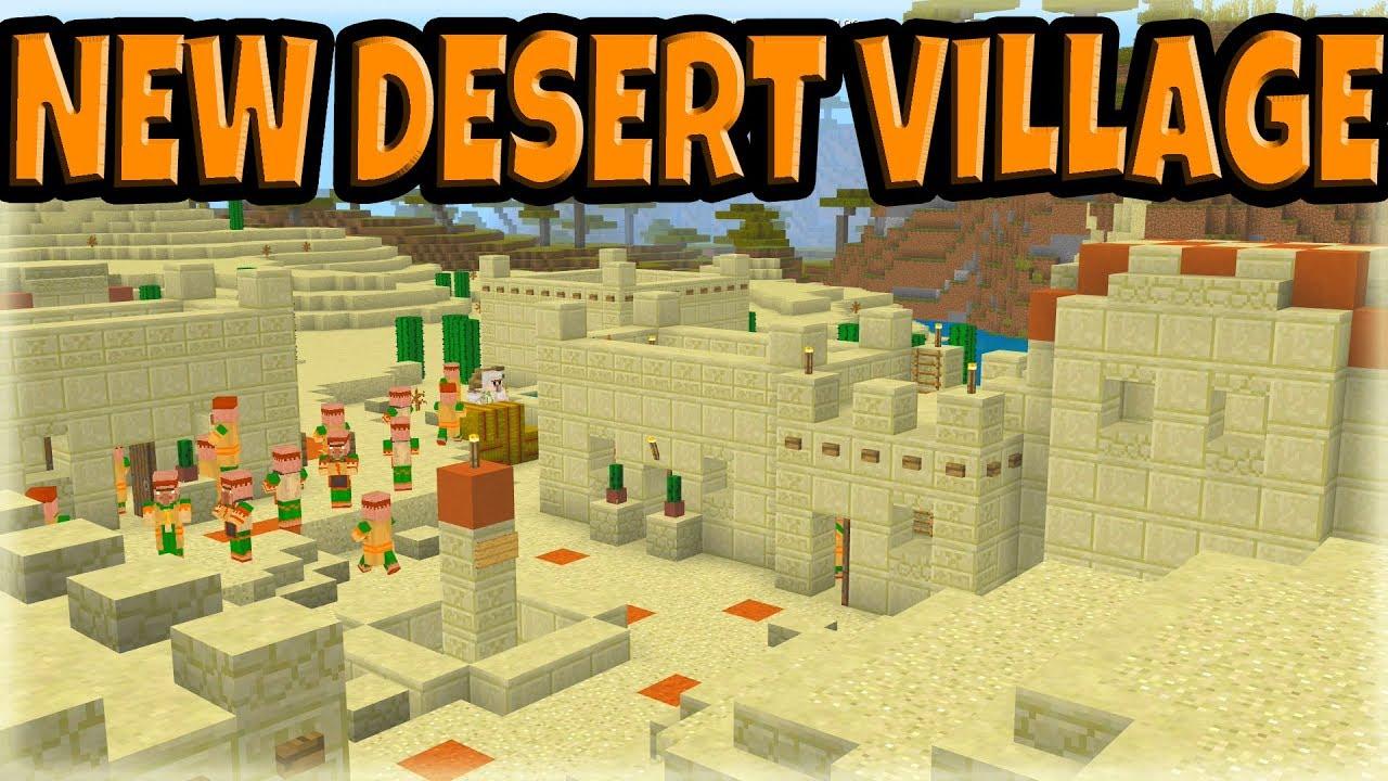 New Desert Village Coming in the Minecraft 1.14 Update ...