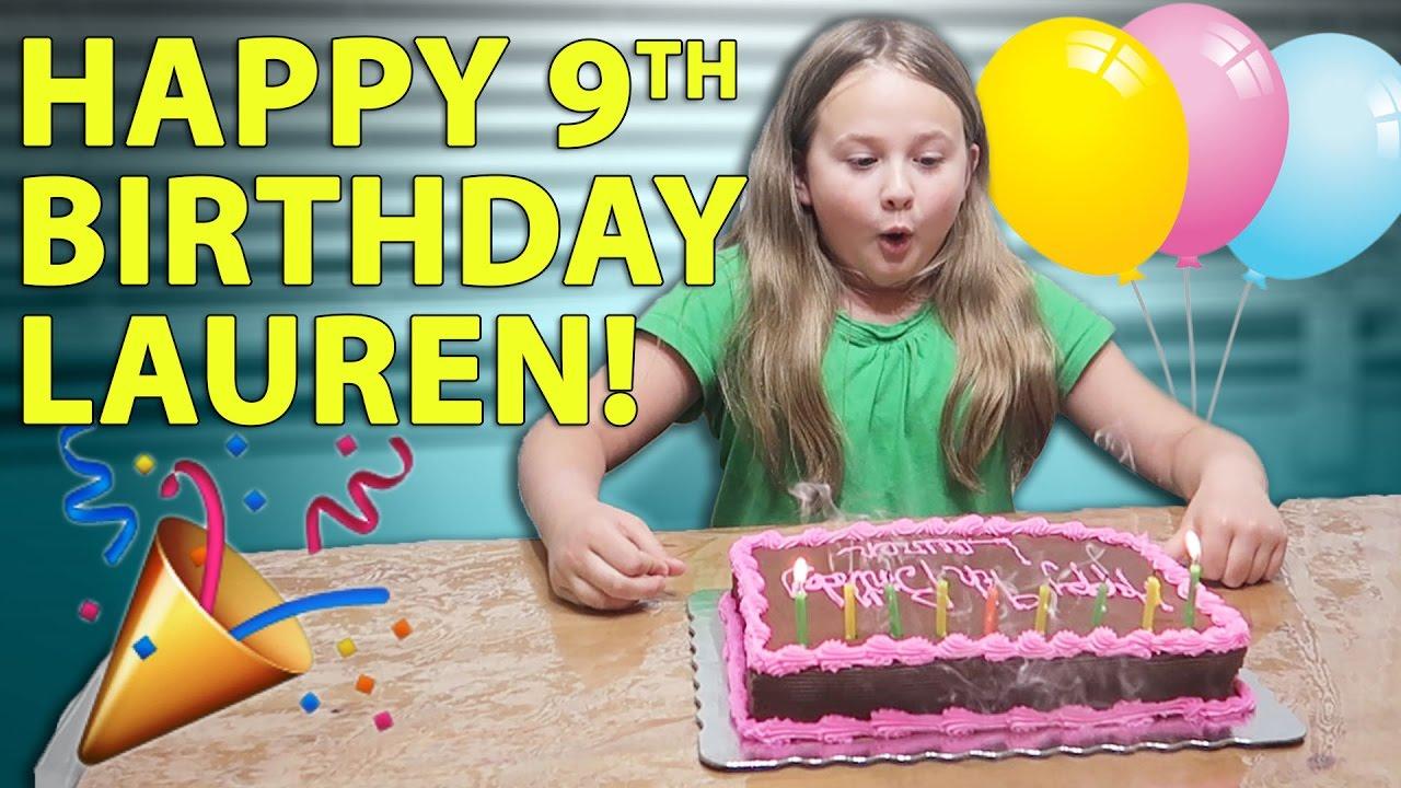HAPPY 9TH BIRTHDAY LAUREN 3317 YouTube