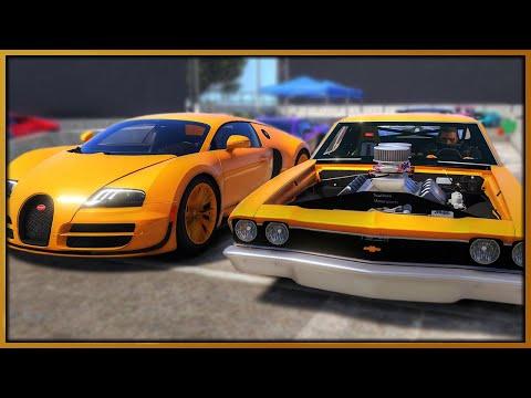 GTA 5 Roleplay - 'MONSTER' Drag Car 'EMBARRASSES' Bugatti Veyron | RedlineRP #978