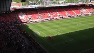 Twente-Dordrecht, spelers bedanken supporters vak P #twedor