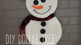 DIY Dollar Tree Flat And Fluffy Snowman