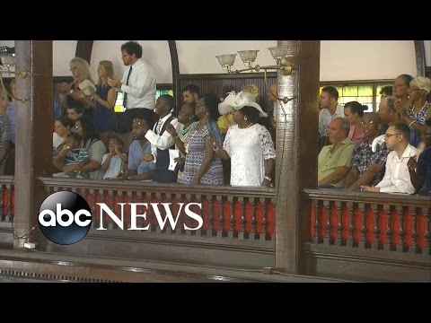 Emanuel AME Church in Charleston Holds 1st Service Since Shooting