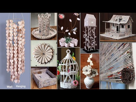 News Paper! Best Out of Waste | 10 Waste Paper Room Decor