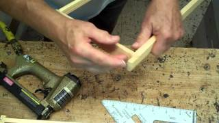 Making/assembling A Wooden Frame For A Bee Hive - Beekeeping Video Instructions