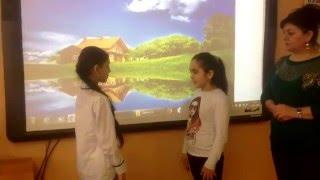 Диалог Фатимы и Бону в 5В классе, ГБОУ Школы №1076.