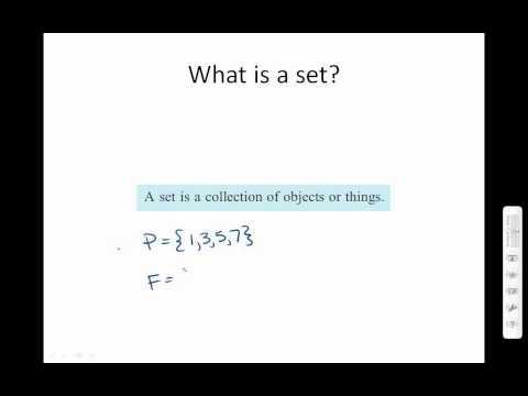 Number Sets and Set Notation