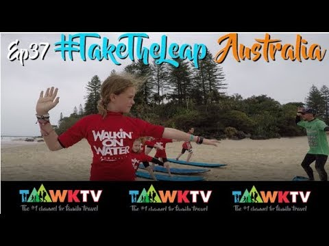 Ep37 [GOLD COAST SURFING] AUSTRALIA TRAVEL FAMILY [TaawkTV] REAL TRAVEL FAMILY