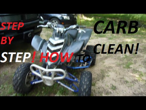 Motocross Rider Edit Raptor 660 Carb Clean (HOW TO)