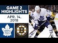 NHL Highlights   Maple Leafs vs. Bruins, Game 2 - Apr. 14, 2018