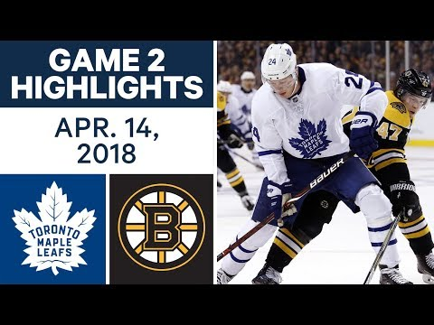 NHL Highlights | Maple Leafs vs. Bruins, Game 2 - Apr. 14, 2018