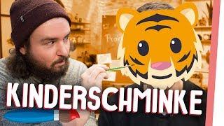 KINDERSCHMINKEN | Kelly & Sturmwaffel schminken Dackel und Tiger! | GMI