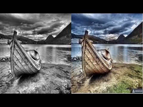 Как из черно-белого фото сделать цветное онлайн