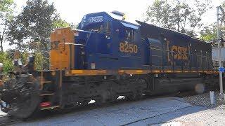 CSX #504 Leading A Mixed Freight Train Past Gun Road