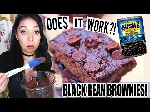 BROWNIES MADE OUT OF BLACK BEANS?! Does It Work??! - #TastyTuesday