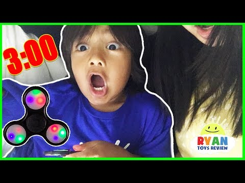 Thumbnail: Do not spin a fidget spinner at 3am or 3pm! Omg So Scary 3am challenge with Ryan ToysReview!