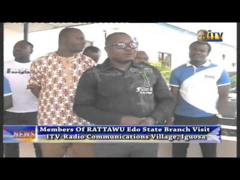 Members Of RATTAWU Edo State Branch Visit ITV/Radio Communication Village