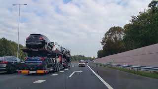 Dashcam Beelden Utrecht: A27 Toerit Maarssen Aansluiting N230 ----»Knooppunt Eemnes »A1 Afrit Huizen