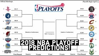 2018 NBA Playoffs: Official Playoff Predictions For Eastern and Western Conference!