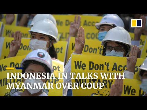 Indonesia initiates talks with both sides of Myanmar crisis amid outrage over Asean plan for polls