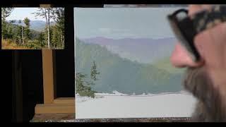 Горный Пейзаж Маслом – Рисуем Горы и Воздух и Деревья – Часть 1 – Юрий Клапоух (2018)
