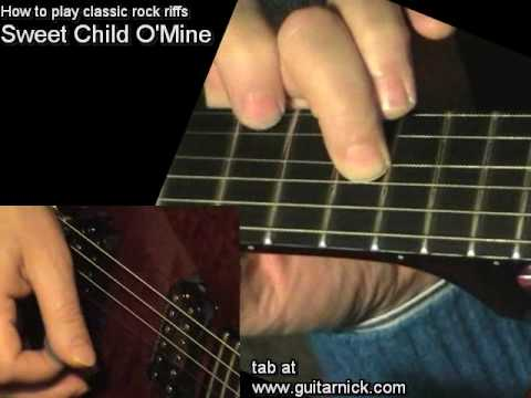 Sweet Child O Mine Guns N Roses Guitar Lesson Tab Learn To