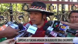 CAMPESINOS AMENAZAN CON BLOQUEOS