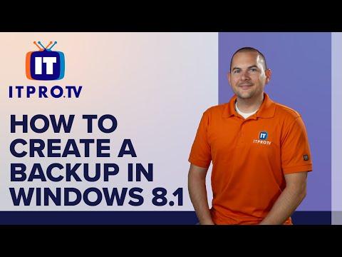 How To: Windows 8.1 Create A Backup